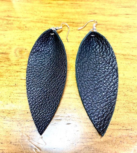 Gathered Teardrop Earrings