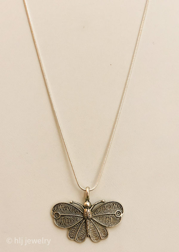 Silver Butterfly 18 Necklace
