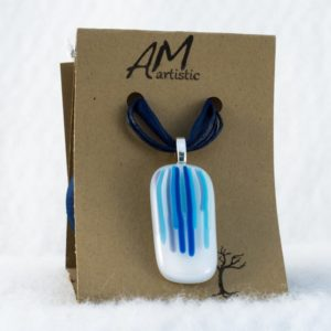 Blues Fused Glass Pendant