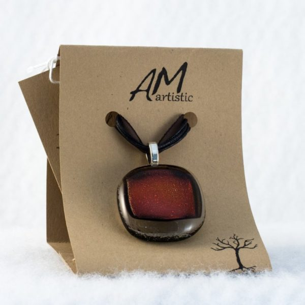 Stacked Fused Glass Pendant