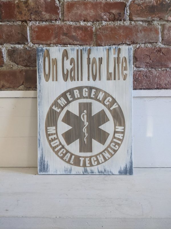EMT Distressed Laser Engraved Sign