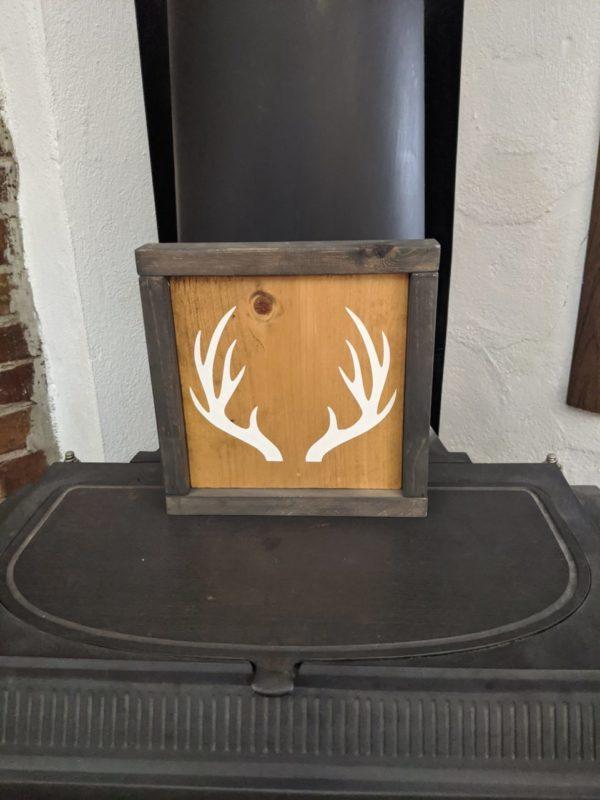 Antlers Painted Handmade Sign