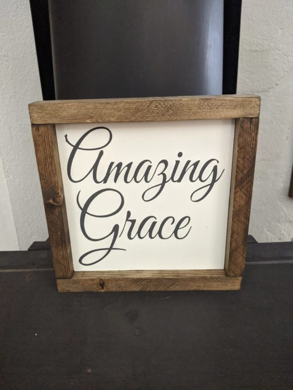 Amazing Grace Painted Handmade Sign