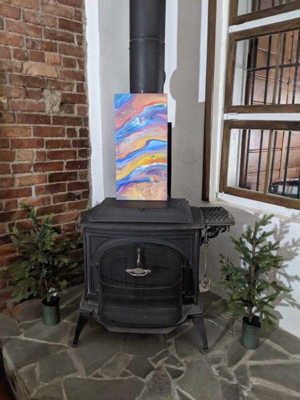 Rainbow Pour Canvas Painting