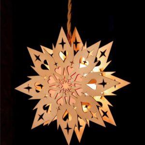 Koselig Lighted Hanging Scandinavian Welcome Star