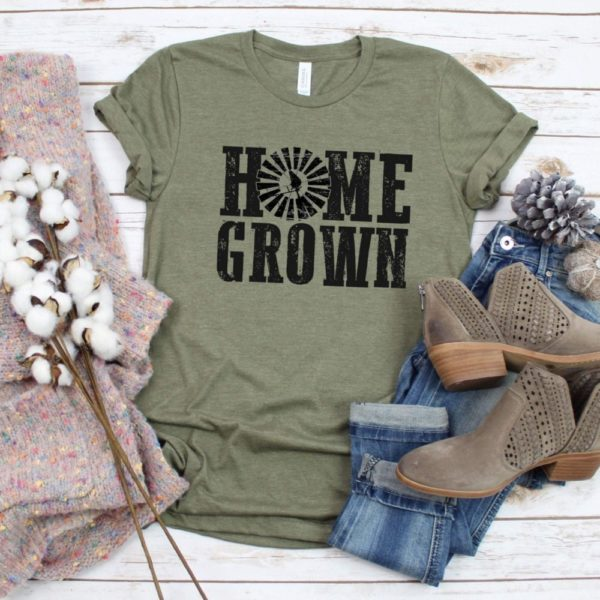 Home Grown Tee With Windmill Detail