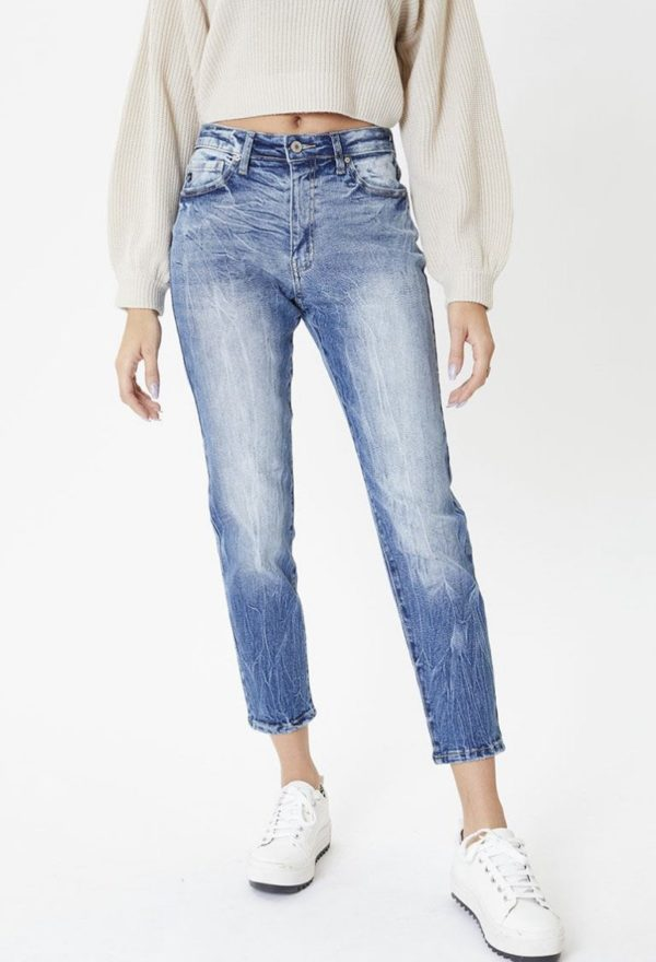 Lucy high rise mom jean
