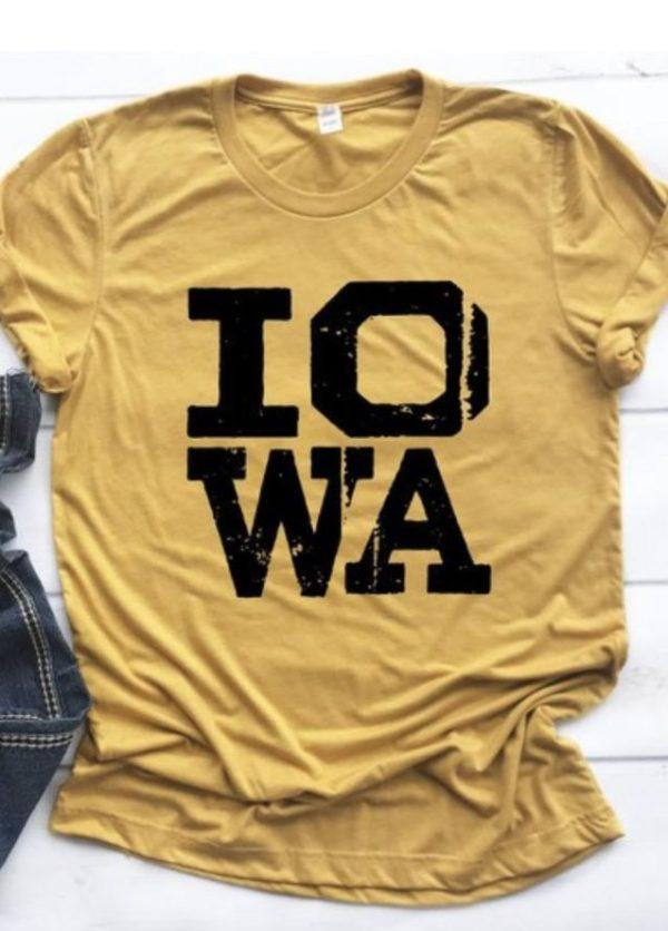 IOWA distressed tee