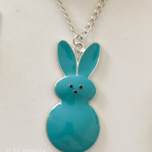 "20"" Blue Peeps Bunny Necklace"