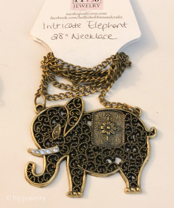 Various Elephant Pendant Necklaces – You Choose