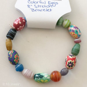 Colorful Eggs 8″ Stretch Bracelet