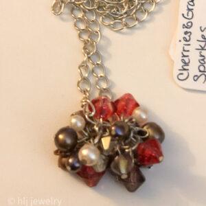 Cherries & Grape Sparkles 26 Necklace