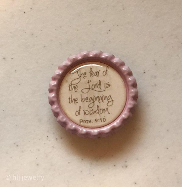 Set of 4 Faith Messages Bottlecap Magnets – Verses, Cross