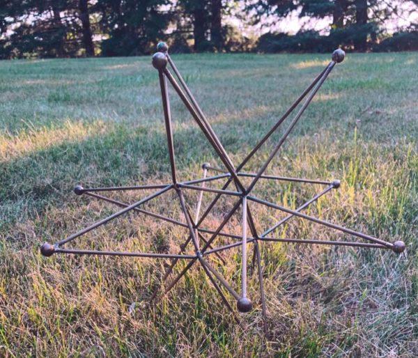 Metal 12 Point Star Decor