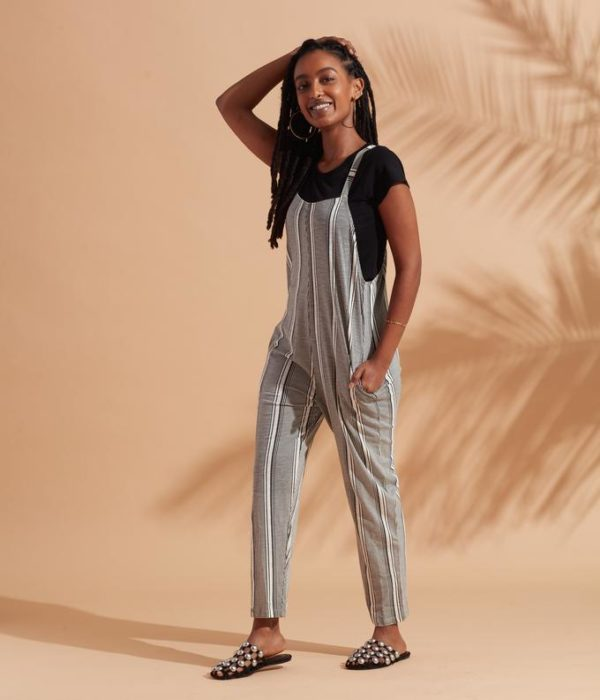photo of The Cadence Striped Overall, Fair Trade Certified, Revival, Shop Iowa