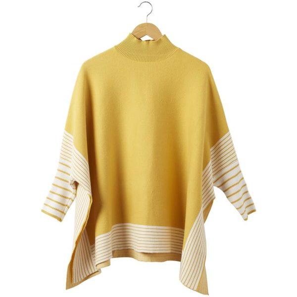 Eddie Stripe Poncho – Yellow