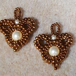 Handmade Glass and Swarovski Clover Earrings