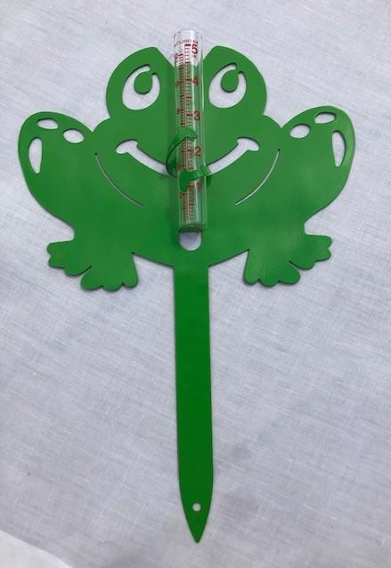 Green Frog Rain Gauge
