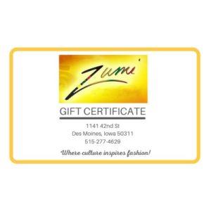 Zumi Gift Card