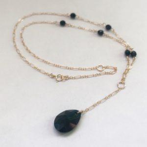 Black Lavaliere Necklace