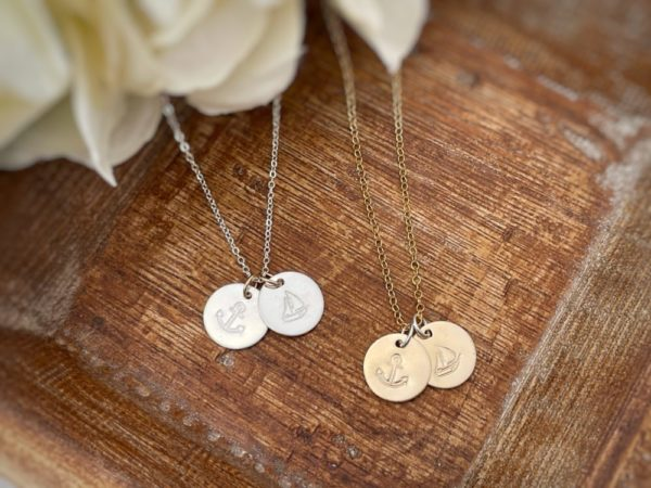 """Anchor & Sails Necklace For Her– """"You are my anchor and my sails all at once."""""""
