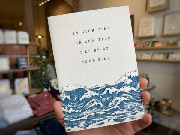 """""""I'll Be By Your Side"""" — 5×7 Letterpress Greeting Card"""