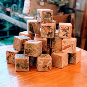 Antique Children's Wood Puzzle Blocks