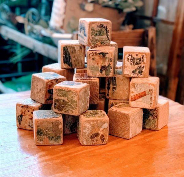 Antique Children's Wood Puzzle Blocks