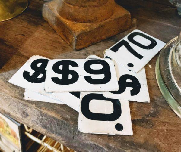 Antique Metal Cash Register Tabs