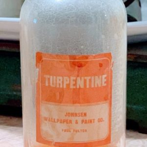 Antique Duraglas Glass Turpentine Bottle