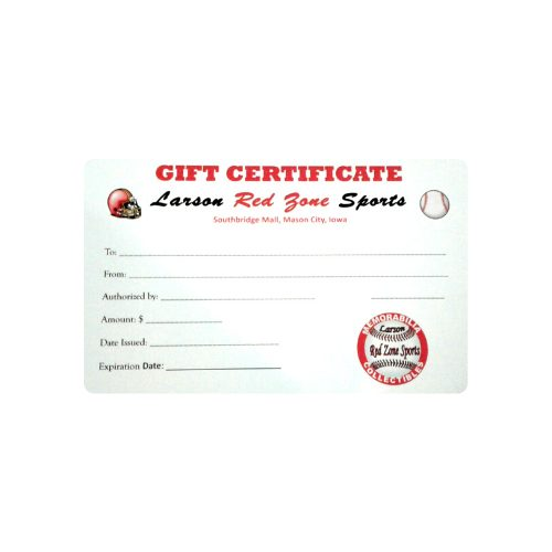 Larson Red Zone Sports Gift Certificate
