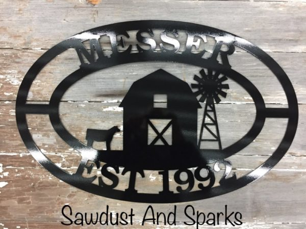 Agricultural Oval Metal Signs