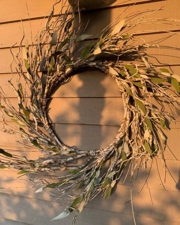 White Birch Wreath