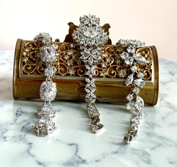 Silver Cushion Cut CZ Bracelet