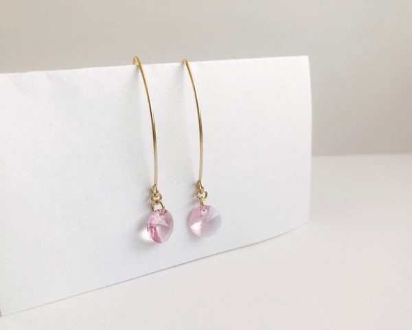 Crystal Birthstone V Earrings