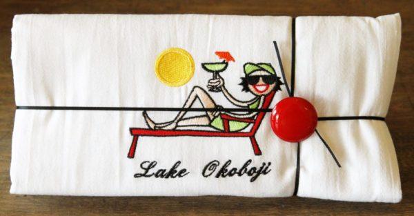 Lake Okoboji Flour Sack Dish Towel