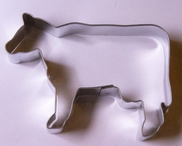 Cow shaped cookie cutter