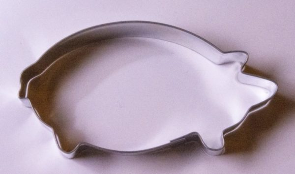 Pig shaped cookie cutter