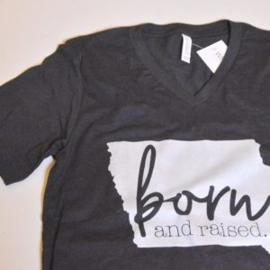 Iowa Born and Raised T-shirt