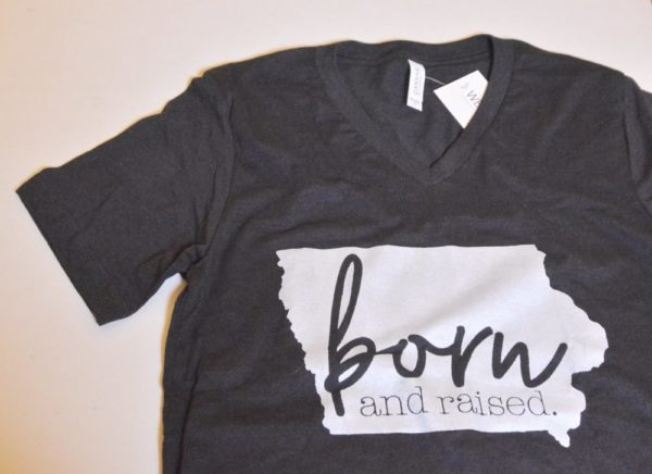 Iowa Born and Raised T-shirt