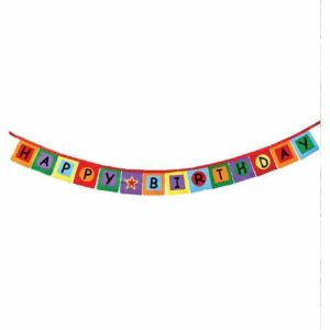 Felt Happy Birthday Banner