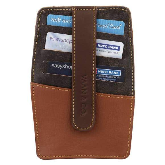 Recycled Leather Credit Card Wallet