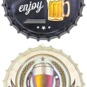 Metal Bottle Cap Beer Sign