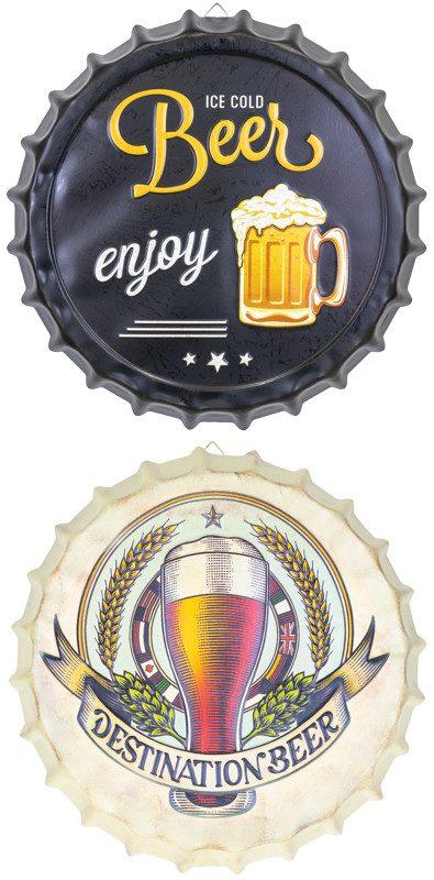 Metal Bottle Cap Beer Sign