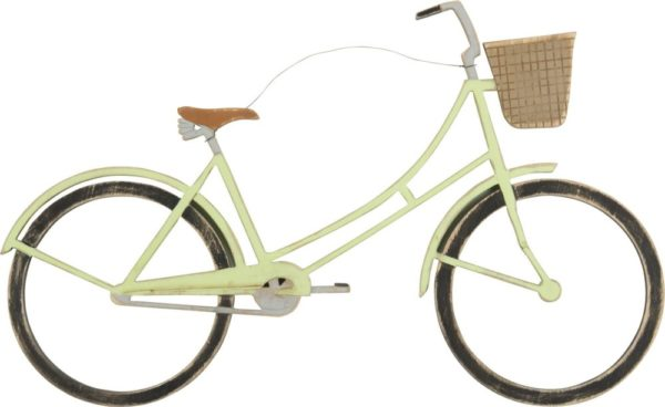 Green Bicycle Wall Hanger for Home Decor
