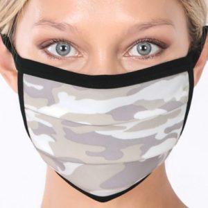 Sage Camo Cotton Mask