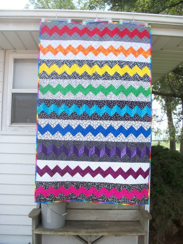 Rainbow Zig Zag Quilt Kit