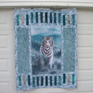White Siberian Tiger Quilt Kit