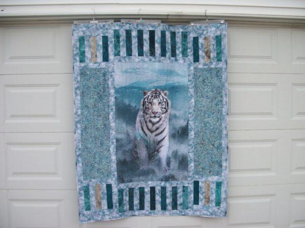 White Siberian Tiger Quilt Kit