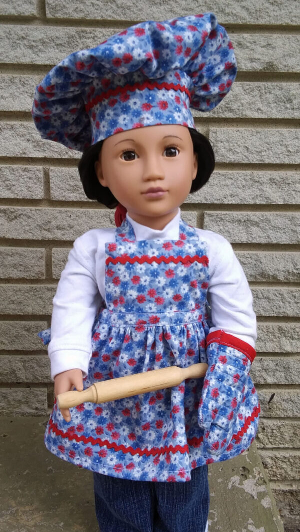 Chef/Baker Accessories for American Girl or Boy Dolls